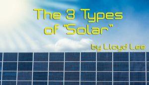 Types of Solar