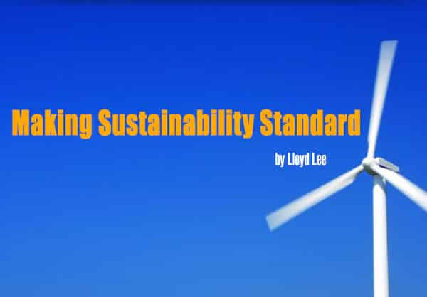 Sustainability Standard