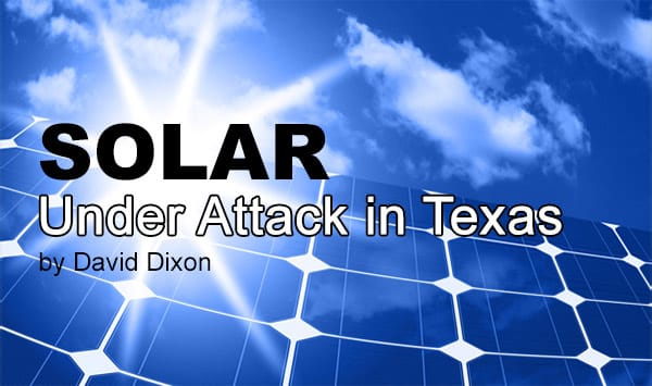 Solar Under Attack in Texas