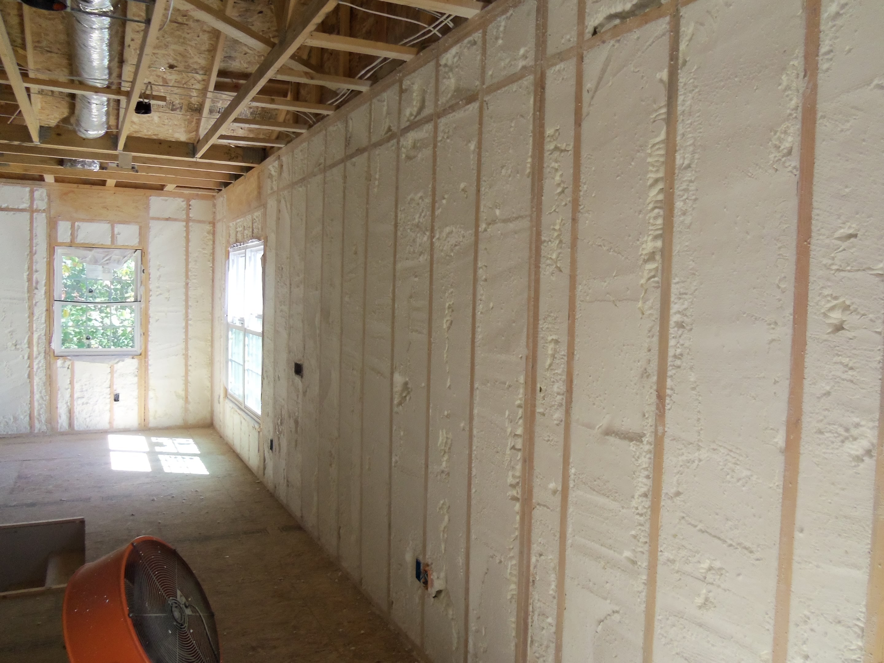 Building envelope spray foam insulation windows more for Types of insulation for basement