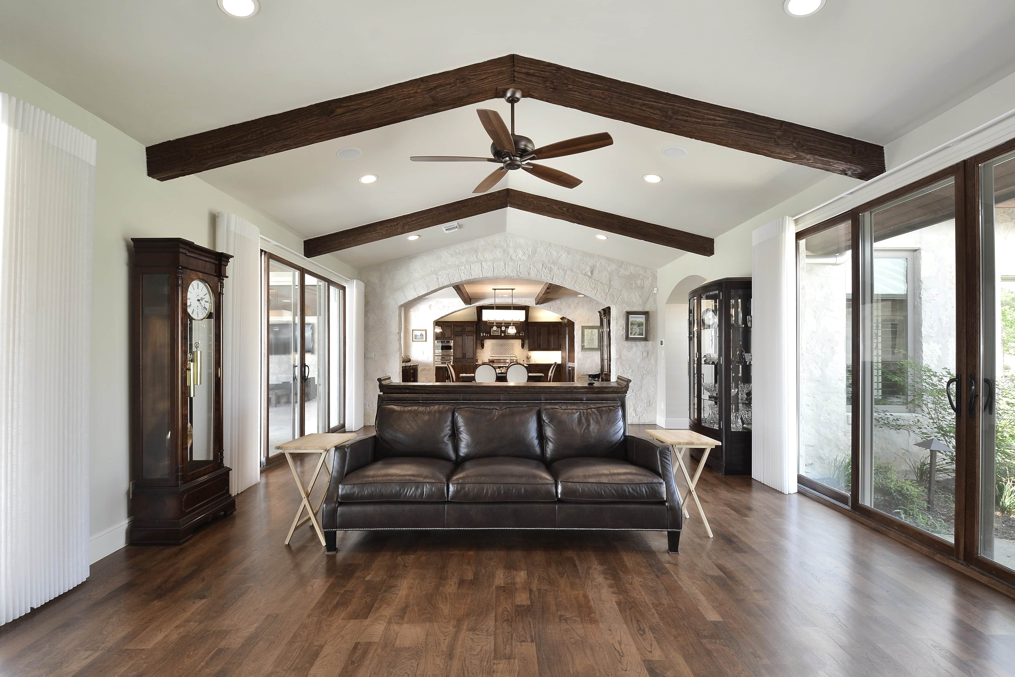 Spicewood ranch native custom built green home for Custom built ranch homes