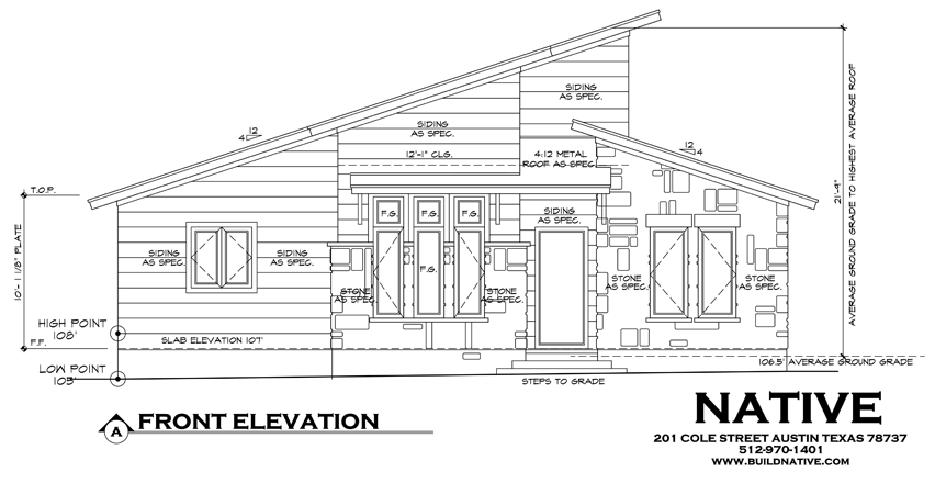 Front Elevation Of Drawing Room : Front elevation drawing native