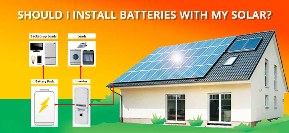 Solar Batteries For Home >> Should I Install Batteries With My Solar A Home Energy Storage Blog